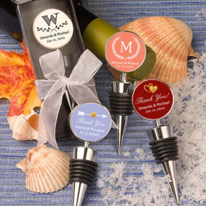 silver custom bottle stopper silhouette designs