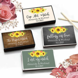 sunflower match boxes