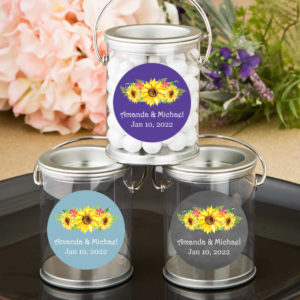 sunflower silver paint cans