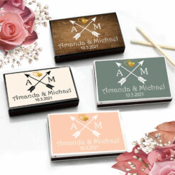 tribal arrows monogram matchboxes