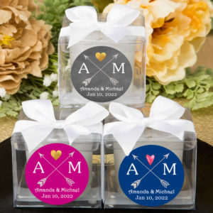 tribal arrows monograms cube candle