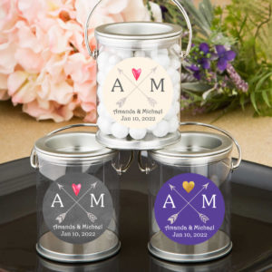 tribal arrows monograms silver paint cans