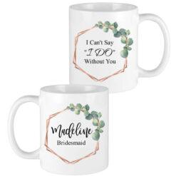 eucalyptus leaves bridesmaid mugs