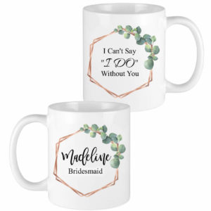eucalyptus leaves bridesmaid mugs