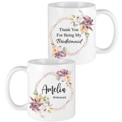 fall floral bridesmaid mugs
