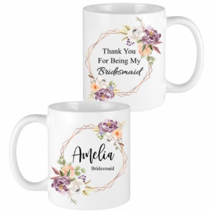fall floral bridesmaid mugs