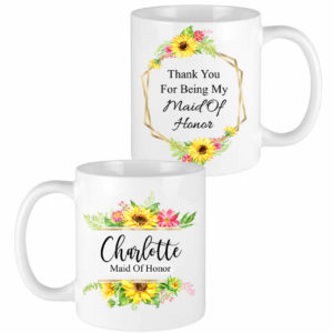 sunflower bridesmaid mug