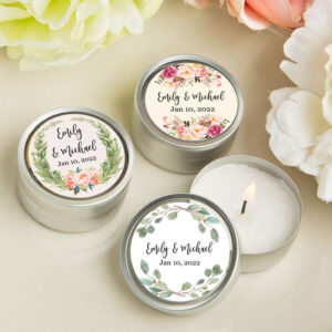 candle wedding favors floral
